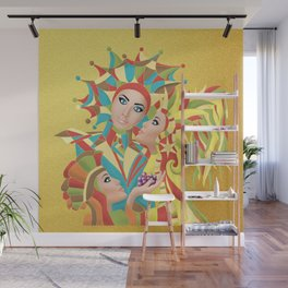 Shared Secrets in Multi-Colors Wall Mural