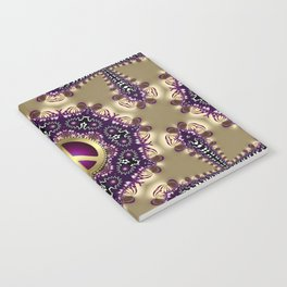 Bohemian Gold Peace Symbol Notebook