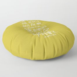 Jeremiah 29: 11 x Mustard Floor Pillow