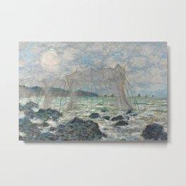 Claude Monet - Fishing nets at Pourville, 1882 Metal Print