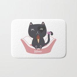 Cat Ice Cream Bath Mat
