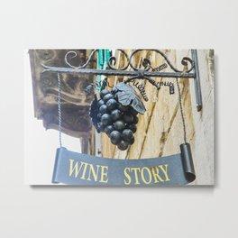 Old Wine Store Metal Print