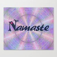 namaste Canvas Prints featuring Namaste by Stay Inspired