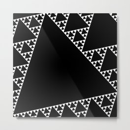 Fractal Triangle Metal Print