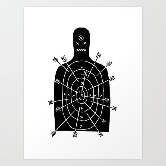 arch arrow Art Print
