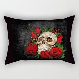 Red Rose Sugar skull Rectangular Pillow