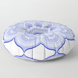 Periwinkle Mandala Flower Floor Pillow