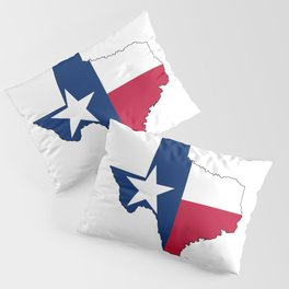 Texas Map Outline and Flag Pillow Sham