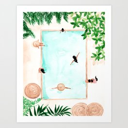 Pool Day Art Print