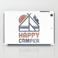 backpack iPad Cases featuring Happy Camper by Zeke Tucker