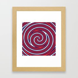 Hypnose. Red Framed Art Print