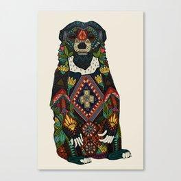 sun bear almond Canvas Print
