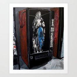 Saint in a vending machine 2. 2009.  Art Print