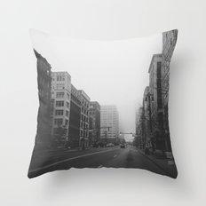Woodward & John R...& Clifford - Detroit, MI Throw Pillow