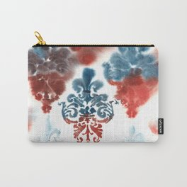 Damask: Red and Blue, Deteriorated Carry-All Pouch