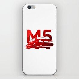 BMW E34 M5 - classic red - iPhone Skin