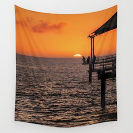 Sunset Fishing Wall Tapestry