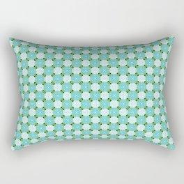Blue Green Rectangular Pillow