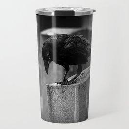 Cemetery Crow Travel Mug