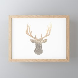 GOLD DEER Framed Mini Art Print