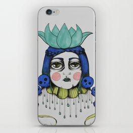 Skull Lady iPhone Skin
