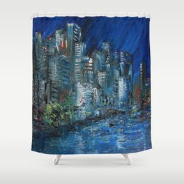 Waterfront Abyss Shower Curtain