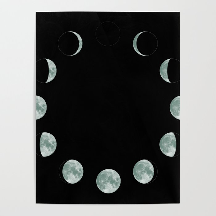 Moon Phases Poster By Shamila