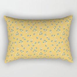 Wind Flower in Yellow Rectangular Pillow