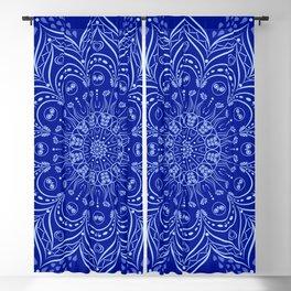 Blue Boho Mandala Blackout Curtain