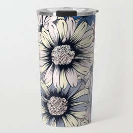 Cute floral pattern in vintage stylewith daisy flowers Travel Mug