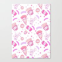 junk food Canvas Prints featuring JUNK by bb0t