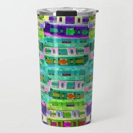 Fluoro Cassette Stacks Travel Mug