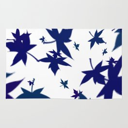 Scattered maple leaves Rug