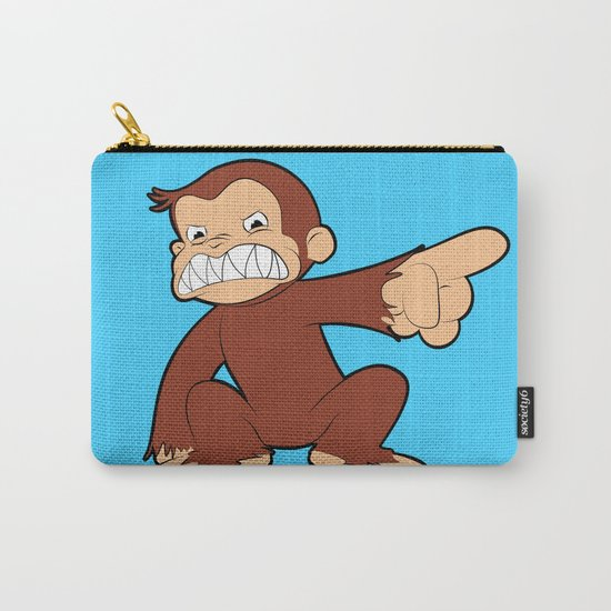Furious George Funny Monkey Cartoon Animal Carry-All Pouch