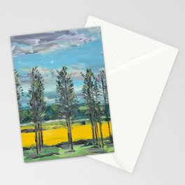 Yellow fields of the Loire Valley, France Stationery Cards