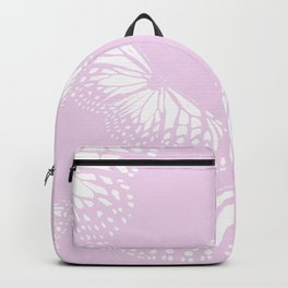 White Butterflies Pastel Pink Background #decor #society6 #buyart Backpack