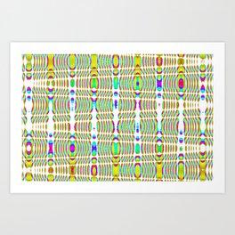 rhombus abstract Art Print