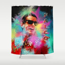 Colorful Dust Falco Shower Curtain