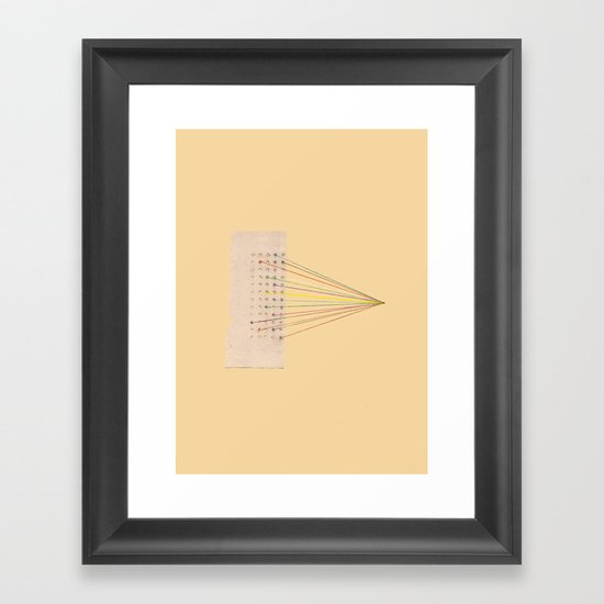 Plugs Framed Art Print