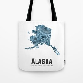 Alaska - State Map Art - Abstract Map - Blue Tote Bag