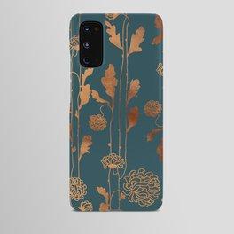 Art Deco Copper Flowers  Android Case