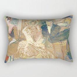 """Henri de Toulouse-Lautrec """"Au Bal masqué de l'Elysée Montmartre"""" Rectangular Pillow"""