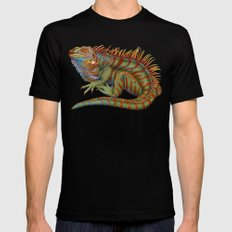Iguana 2 SMALL Mens Fitted Tee Black