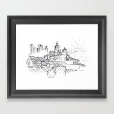 Cogolludo Sunrise (line) Framed Art Print
