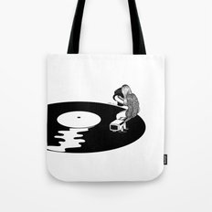 Don't Just Listen, Feel It Tote Bag
