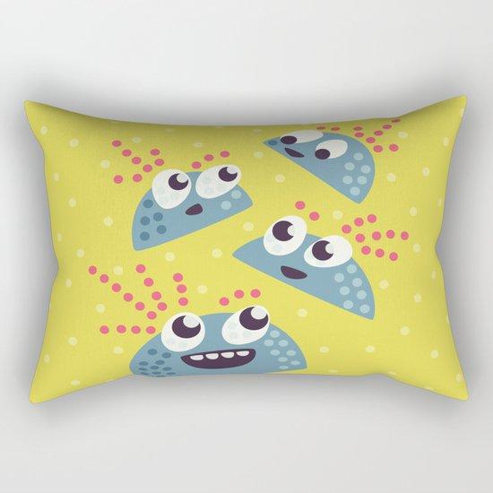 Happy Candy Friends Rectangular Pillow