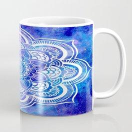 Mandala Blue Lavender Galaxy Coffee Mug