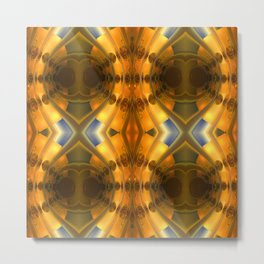 Amber Light Kaleidoscope Metal Print
