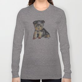 Yorkie Pup Long Sleeve T-shirt