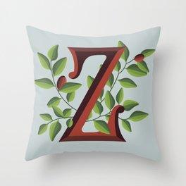 Letter 'Z' is for Ziziphus Throw Pillow